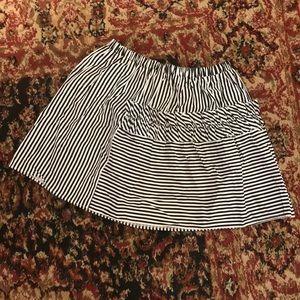 Zara Girls black stripe ruffle mini skirt